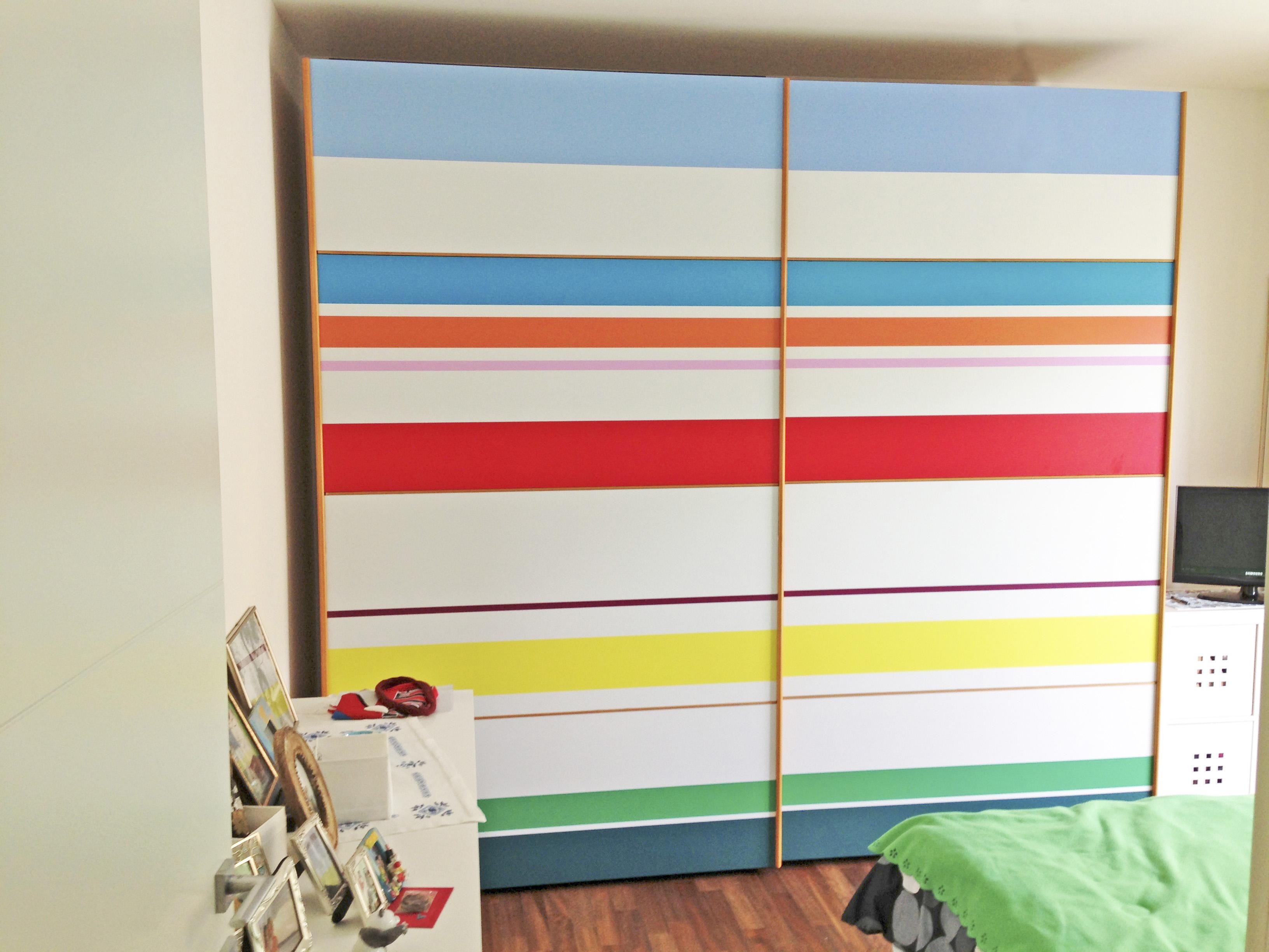 Rivestimento armadio con pellicole adesive - Carta adesiva colorata per mobili ...