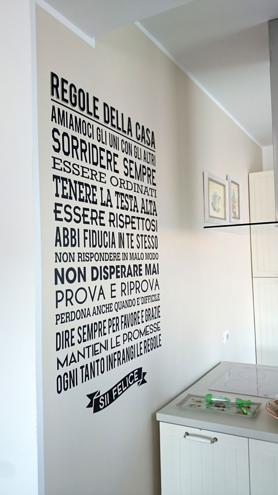 Adesivi per pareti for Decorazioni autoadesive per mobili