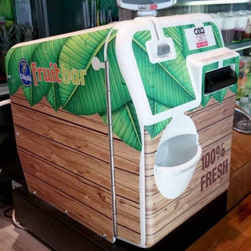 Cassa automatica personalizzata con adesivi